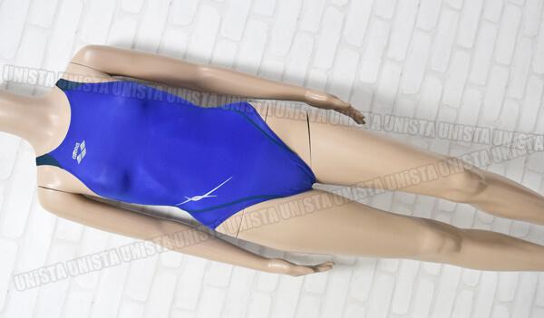 ARENA-アリーナ-FAR-8515WH-NUX-W-RIMIC-ハイカット女子競泳水着-ブルー