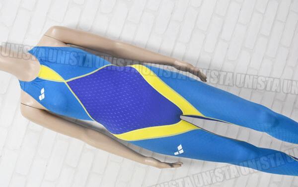 ARENA アリーナ ARN-6005M Aile-Blue エールブルー 男子競泳水着 ブルー・イエロー
