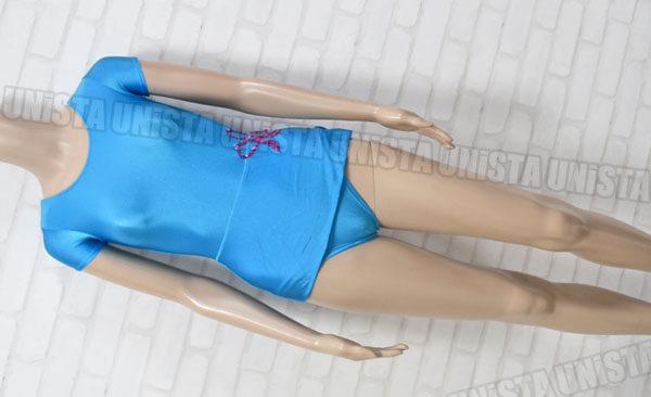 Chacott チャコット 女子バレエ・ダンス スカート型半袖レオタード ライトブルー