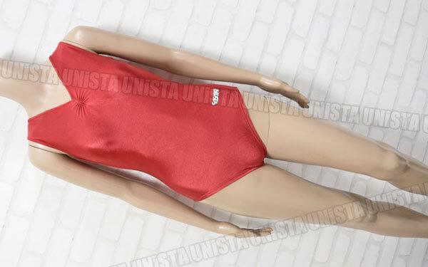 SASAKI ササキスポーツ 女子(新)体操競技 フロントギャザー ノースリーブレオタード レッド