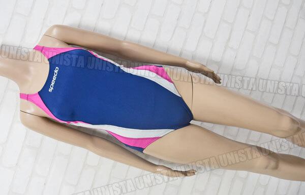SPEEDO スピード 83OJ-44186 SOLOTEX ソロテックス Fカット 女子競泳水着 mizuno製 ネイビー・ピンク