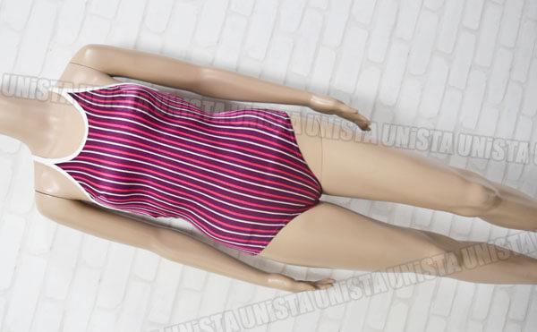 小松ニット SUPERIOR MIND スペリオールマインド 白パイピングワンピース水着・女子競泳水着 パープル