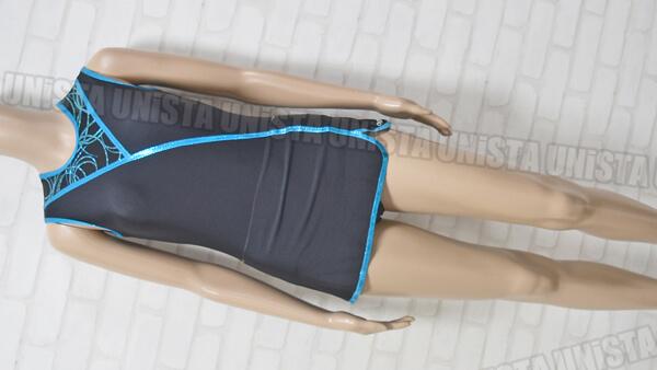 AGIVA アギバ 女子新体操・エアロビクス ノースリーブレオタ-ド ブラック・ブルー