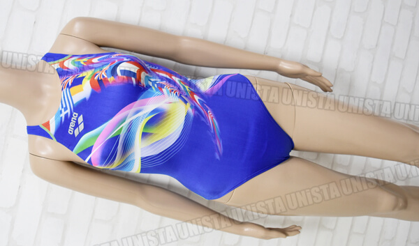 ARENA アリーナ ARN-6011WL X-PYTHON RIMIC FINA女子競泳水着 ブルー