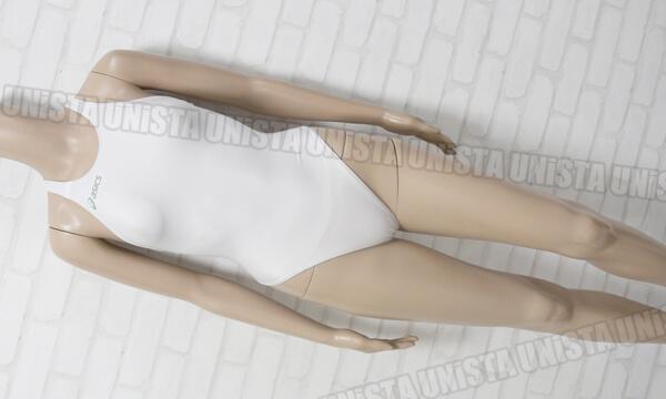 ASICS アシックス ALS85T HYDRO CD ハイドロCD 極薄 白アシ ハイカット女子競泳水着 ホワイト