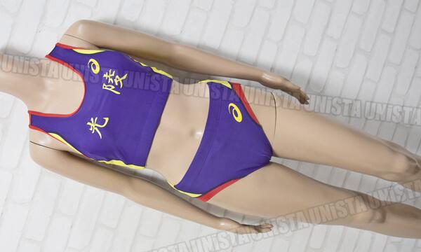 ASICS アシックス 女子陸上レーシングブラ・ブルマ 上下セット 光陵高校女子陸上 パープル