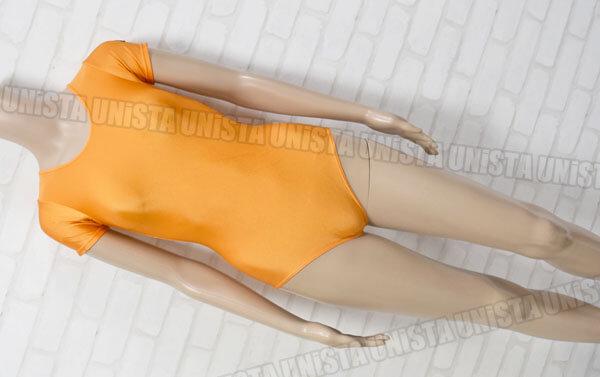 Chacott チャコット 女子バレエ・ダンス 半袖レオタード 無地 オレンジ デカールあり