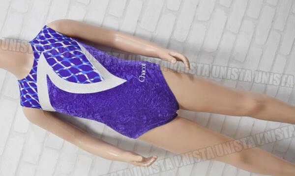 Chacott チャコット NO.5329-10507 女子体操競技 ノースリーブレオタード パープル