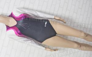 Christian MOREAU クリスチャンモロー 女子体操競技 ロングスリーブレオタード ブラック・ピンク