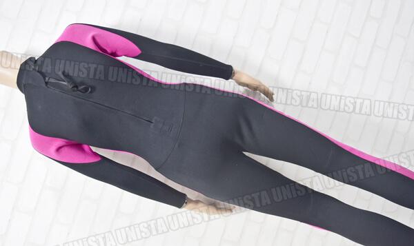 美品 GULL ガル レディース ダイビング・ウェットスーツ フルスーツ5mm ブラック・ピンク