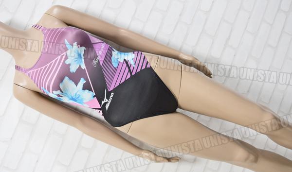MIZUNO ミズノ 85OE-250 MIGHTYLINE2 マイティライン2 ハイカットFINA女子競泳水着 ブラック・ピンク