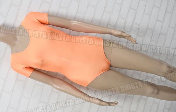 SASAKI ササキスポーツ J-7000H 女子体操競技 半袖レオタード 無地 蛍光オレンジ