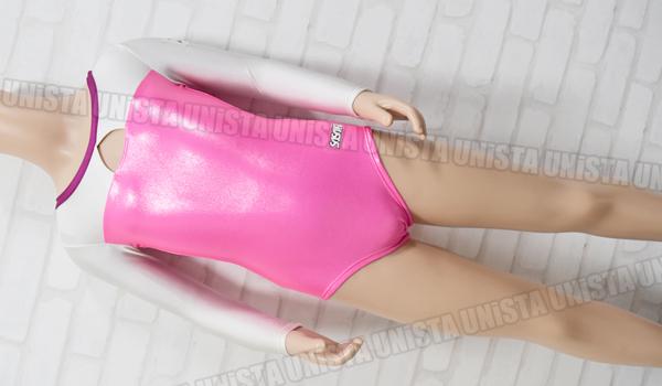 SASAKI ササキスポーツ 女子体操競技 ロングスリーブレオタード ホワイト・ピンク