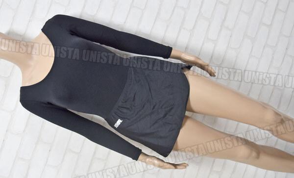 SASAKI ササキスポーツ 女子体操競技 ロングスリーブレオタード スカート付属 無地 ブラック