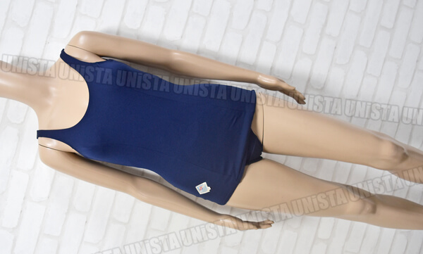 UNITIKA ユニチカ ユニチカナイロン使用 旧型スクール水着・女子競泳水着 ネイビー