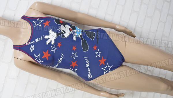 ARENA アリーナ DIS-0352W TOUGHSUIT マットエステルBA 女子競泳水着 ネイビー ミッキーマウス