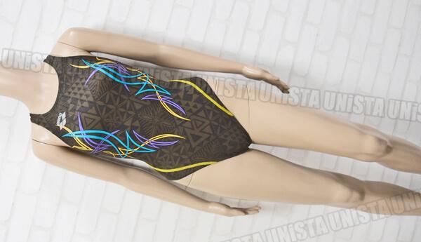 ARENA アリーナ ARN-0059WH NUX-F RIMIC ハイカット女子競泳水着 ブラウン