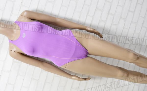 ARENA アリーナ ARN-7019WH ダブルマットF ストラッシュ RIMIC ハイカット女子競泳水着 パープル