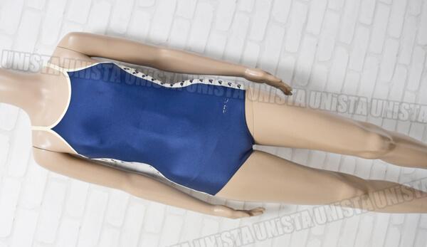 ARENA アリーナ ARN-176W 白パイピングワンピース水着・女子競泳水着 ネイビー