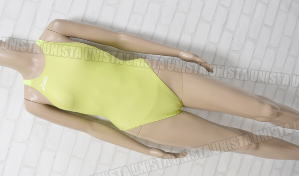 ASICS アシックス ALS43P P2 スパイラルカット 女子競泳水着 蛍光イエロー