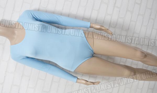 Body Wrappers ボディラッパー 女子バレエ・ダンス ロングスリーブレオタード 無地 ライトブルー USA製