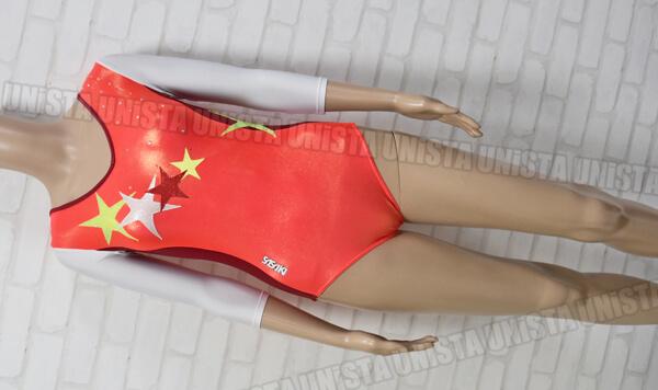 SASAKI ササキスポーツ 女子体操競技 7分袖レオタード オレンジ・ホワイト