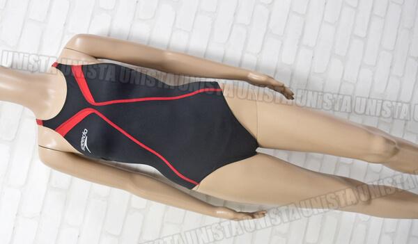 SPEEDO スピード SD42B05 active Hybrid エイムカットスーツ FINA女子競泳水着 ブラック・レッド