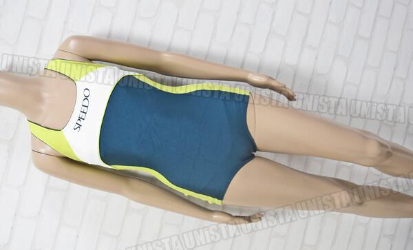 SPEEDO スピード 83LB-00212 ゼロレッグカンターライン オープンバック女子競泳水着 mizuno製 ネイビー・グリーン