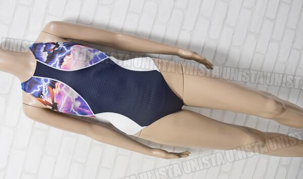 ASICS アシックス AL001B ARROWAVE アローウェーブ ホールドカット FINA女子競泳水着 ネイビー