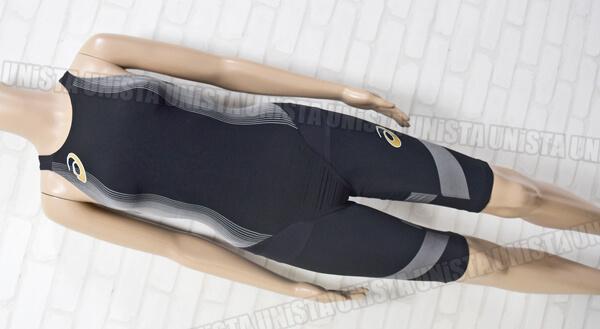 定価37,000円 ASICS アシックス ALS528 TOP iMPACT LINE 3CSKIN FINA女子競泳水着 ブラック・グレー