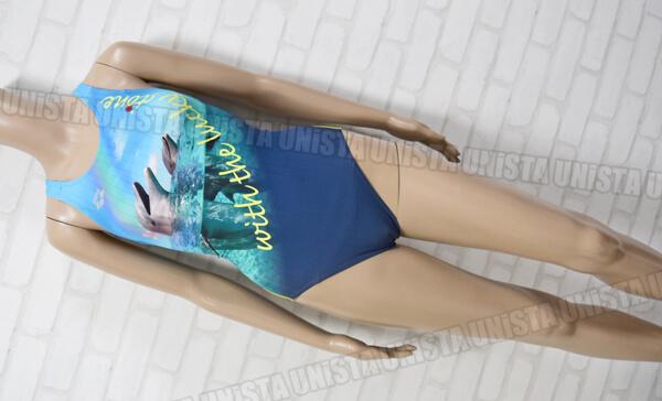 ARENA アリーナヒロイン ARN-0043WL SAFELYBACK DOUBLEMAT-F 女子競泳水着 ネイビー・ブルー