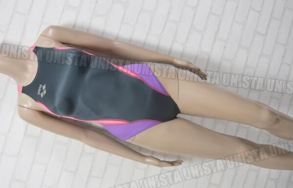 ARENA アリーナ ARN-7014WL 初期NUX ニュークス NUXNUX-D スイムテック21 女子競泳水着 グレー・ピンク