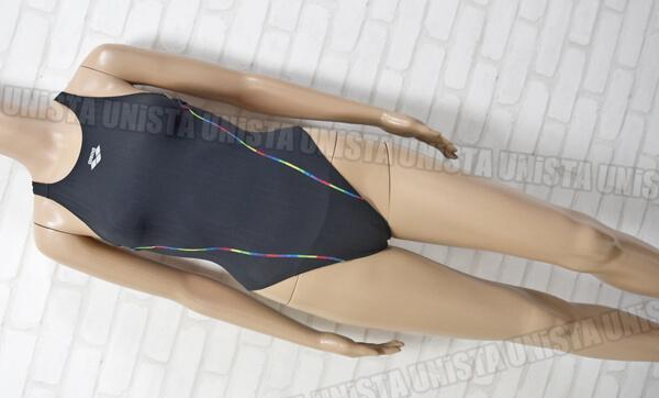 ARENA アリーナ ARN-7019WH ダブルマットF ストラッシュ RIMIC ハイカット女子競泳水着 ブラック