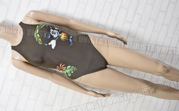 ARENA アリーナ DIS-9312W TOUGHSUIT タフスーツ 女子競泳水着 ディズニー柄 ブラウン