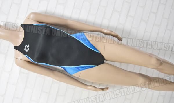 ARENA アリーナ FAR-6502WH 初期NUX RIMIC ハイカット 女子競泳水着 ブラック・ブルー