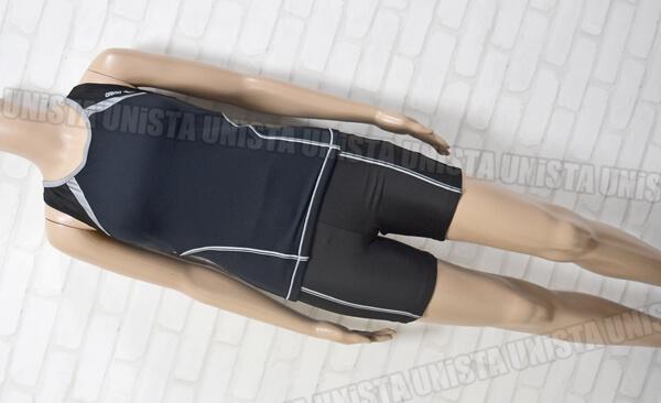 定価9,975円 ARENA アリーナ LAR-2242W SaLaKaLa サラカラ イージーフィット フィットネス水着 ブラック