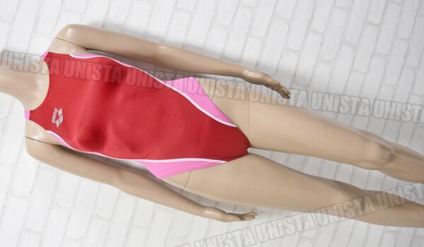 ARENA アリーナ OAR-5041W 初期NUX ニュークス 女子競泳水着 レッド・ピンク