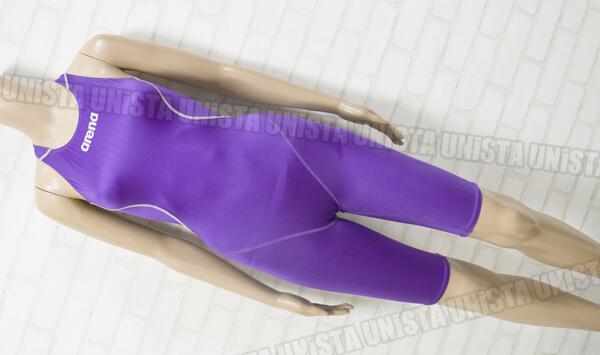 ARENA アリーナ X-PYTHON エックスパイソン ハーフスパッツ FINA女子競泳水着 パープル