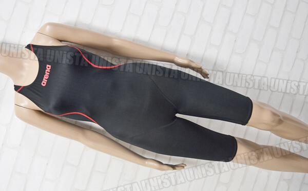 ARENA アリーナ X-PYTHON エックスパイソン ハーフスパッツ FINA女子競泳水着 ブラック・レッド