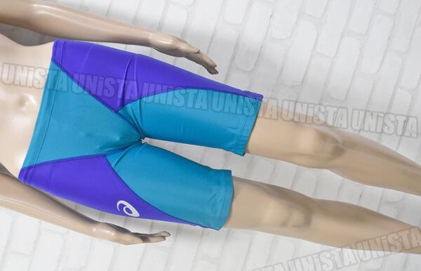 ASICS アシックス ASM104 SPURTeX スパーテクス ハーフスパッツ FINA男子競泳水着 ブルー・ライトブルー