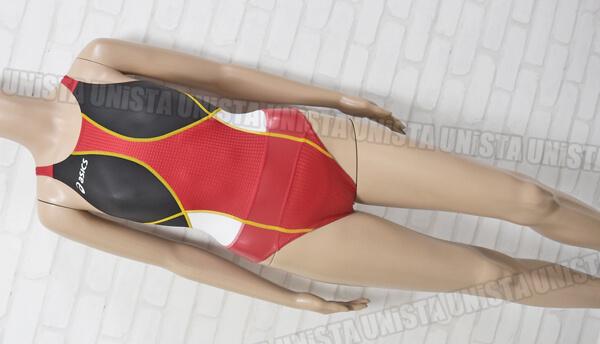 ASICS アシックスALS500 TOPiMPACT LINE トップインパクト ハイドロSP コアバランスベルト 女子競泳水着 レッド