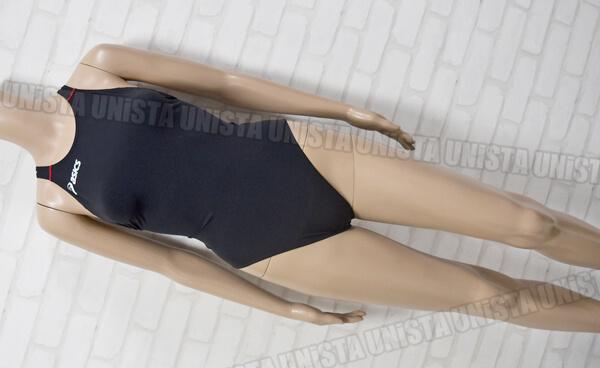 ASICS アシックス ALS514 TOP iMPACT LINE(TYPE2) ホールドカット FINA女子競泳水着 ブラック