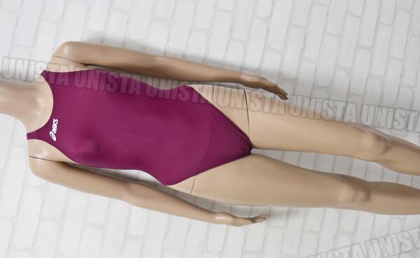 ASICS アシックス ALS643 P2 SPIRAL CUT2 スパイラルカット2 女子競泳水着 パープル