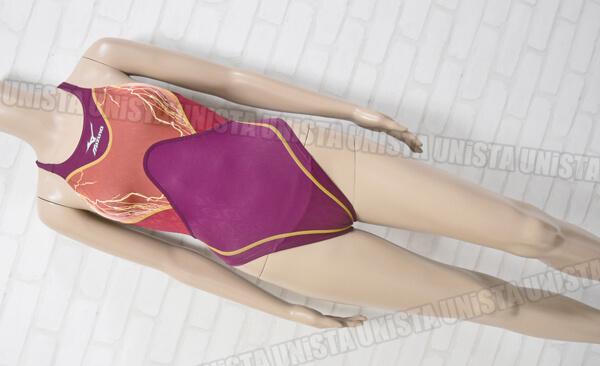 MIZUNO ミズノ 85OA-9888 Accel-Suits アクセルスーツ ハイカット女子競泳水着 レッド・パープル