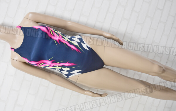 SPEEDO スピード AQUASPEC アクアスペック マーキュライン ハイレグ女子競泳水着 ネイビー・ピンク