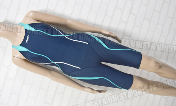 SPEEDO スピード SD46H042 FLEX-cube ショートジョン FINA女子競泳水着 ネイビー・ライトブルー