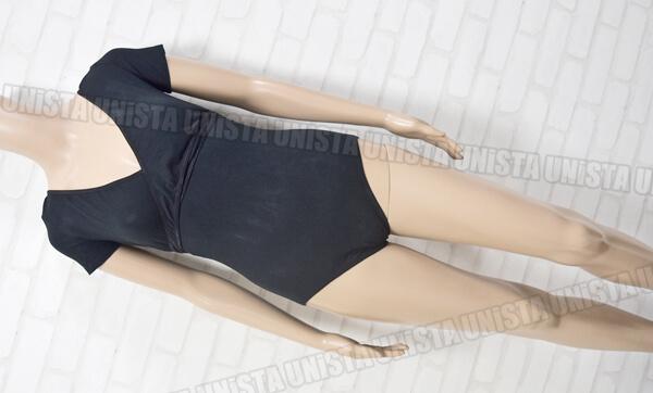 Trienawear トゥーリーナウェア TR1262 カシュクールショートスリーブレオタード ブラック