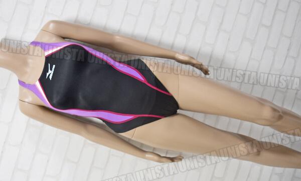 MIZUNO ミズノ 85OE-300 MIGHTYLINE2 マイティライン2 ハイカット FINA女子競泳水着 ブラック・パープル