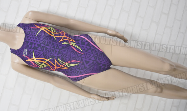 ARENA アリーナ ARN-0059WH NUX-F RIMIC ハイカット女子競泳水着 パープル