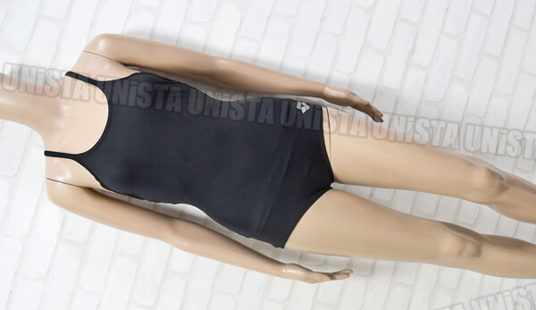 ARENA アリーナ ARN-85W 黒パイピングワンピース水着・女子競泳水着 ブラック